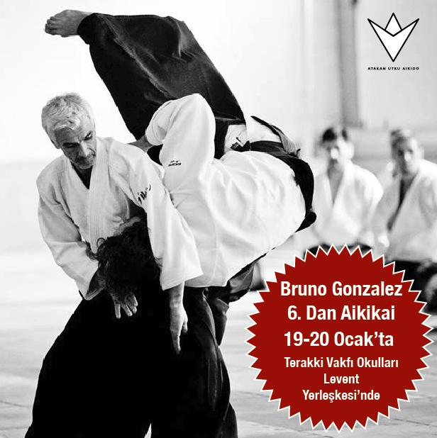 Bruno Gonzalez 6. Dan Aikikai Türkiye'de